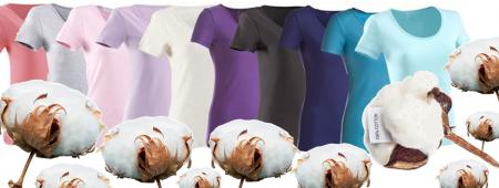 Fibra di cotone e t-shirt